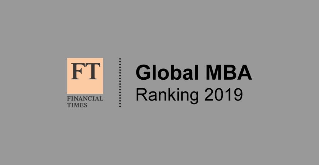 Financial Times Global MBA rankings 2019